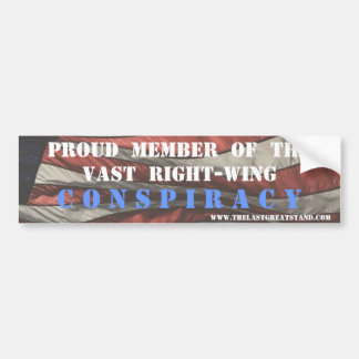 Right Wing Conspiracy Magnet/Bumper Sticker Bumper Sticker