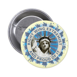 Right Wing Extremist 6 Cm Round Badge