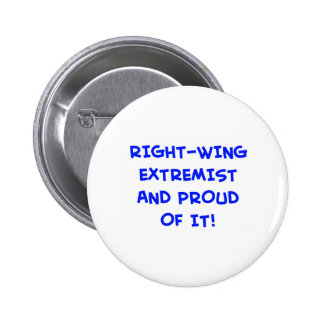 RIGHT-WING EXTREMIST AND PROUD OF IT! 6 CM ROUND BADGE
