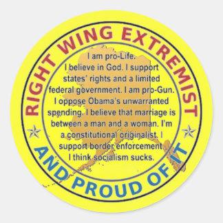 RIGHT WING EXTREMIST BUMPER STICKER - ALASKA