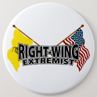 Right Wing Extremist Flags 6 Cm Round Badge