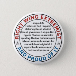 RIGHT WING EXTREMIST LAPEL BUTTON