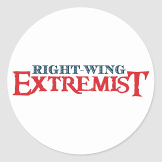 Right-Wing Extremist Round Sticker