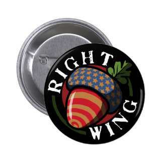 Right Wing Nut 6 Cm Round Badge