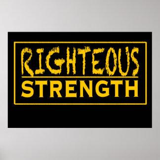 Righteous Strength Logo Poster