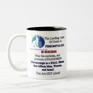 Righthanded Coffee Mug - Fibromyalgia & Suicide