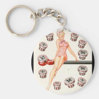 Rigid Tool calendar illustration Pin Up Art Key Ring
