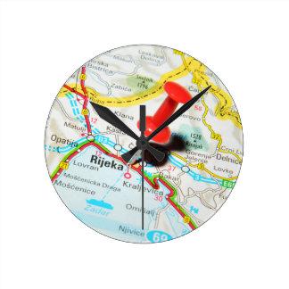 Rijeka, Croatia Round Clock