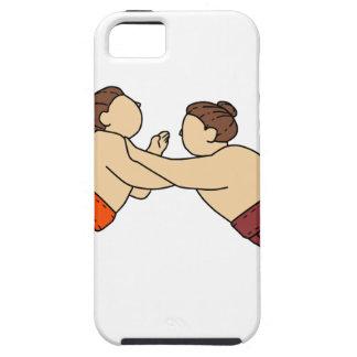 Rikishi Sumo Wrestler Pushing Side Mono Line Case For The iPhone 5