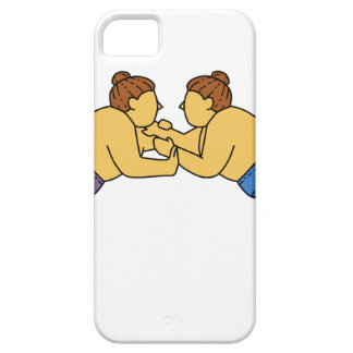 Rikishi Sumo Wrestlers Mono Line Barely There iPhone 5 Case
