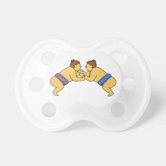 Rikishi Sumo Wrestlers Mono Line Dummy
