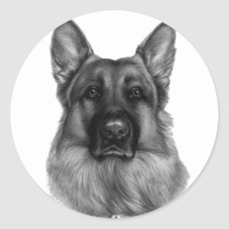 Rikko, German Shepherd Classic Round Sticker