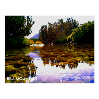 Rila mountain postcard