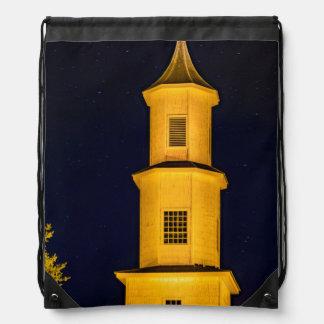 Rilan Church, Chiloe, Chile Drawstring Bag