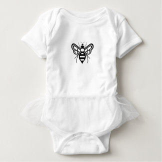 Riley Acres Bee Logo Baby Bodysuit