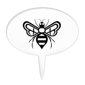 Riley Acres Bee Logo Cake Toppers
