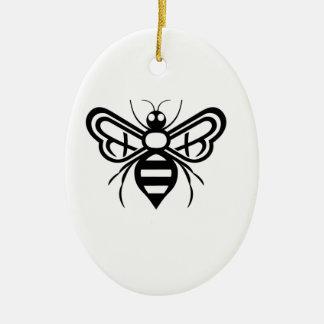 Riley Acres Bee Logo Ceramic Ornament