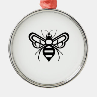 Riley Acres Bee Logo Silver-Colored Round Decoration