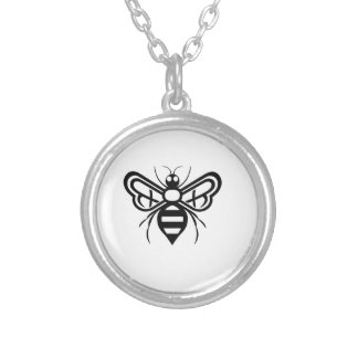 Riley Acres Bee Logo Silver Plated Necklace