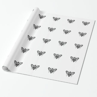 Riley Acres Bee Logo Wrapping Paper