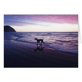 'Riley Brown' Great Dane at Sunset Card