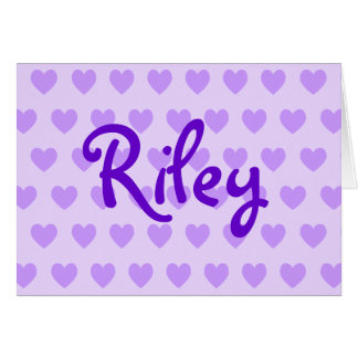 Riley in Purple Card