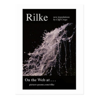 RILKE WEBSITE POSTER POSTCARD