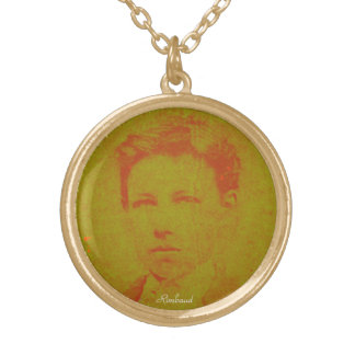 Rimbaud in 16 gold plated necklace