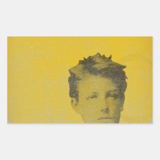 Rimbaud Rectangular Sticker