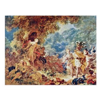 Rinaldo In The Gardens Of Armida By Fragonard Jean Postcard
