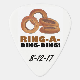 Ring-a-Ding-Ding Funny Foodie Wedding Favor Gift Guitar Pick
