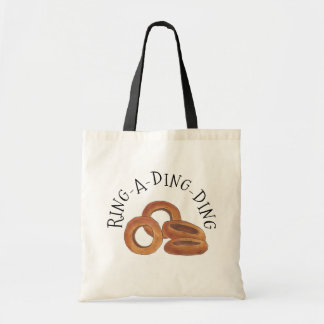 Ring-A-Ding-Ding Onion Ring Rings Junk Food Foodie Tote Bag