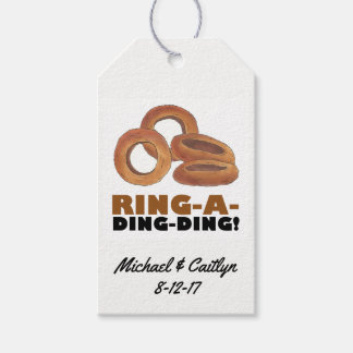 Ring-a-Ding-Ding Onion Wedding Engagement Congrats Gift Tags