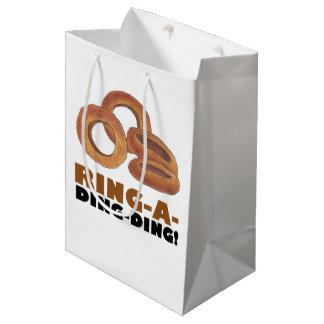 Ring-a-Ding-Ding Onion Wedding Engagement Congrats Medium Gift Bag
