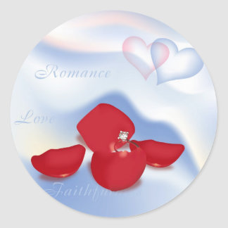 Ring and Petals Classic Round Sticker