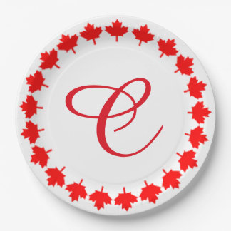 Ring Around Canada Day Party Paper Plates