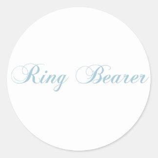 Ring Bearer Aquamarine Round Stickers