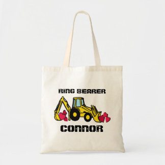 Ring Bearer Back Hoe Tote Bag