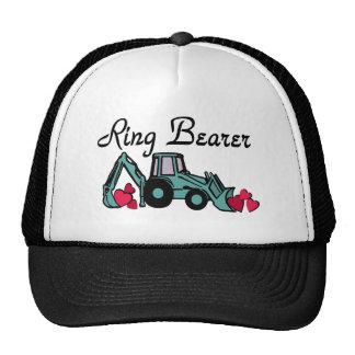 Ring Bearer Backhoe Trucker Hats