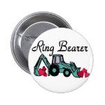 Ring Bearer Backhoe Pinback Buttons