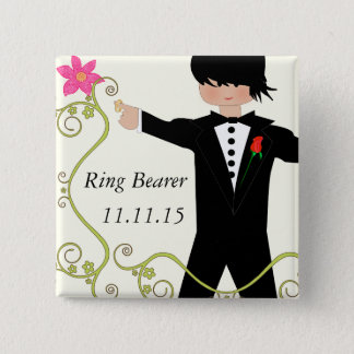Ring Bearer  BowTie Wedding Badges