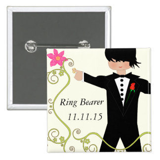 Ring Bearer  BowTie Wedding Badges Pins
