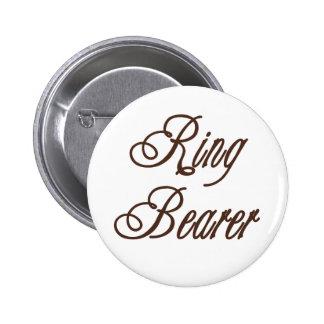 Ring Bearer Classy Browns 6 Cm Round Badge