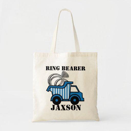 Ring Bearer Dump Truck Tote Bags