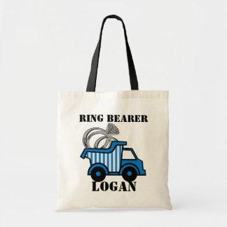 Ring Bearer Dump Truck Blue Budget Tote Bag