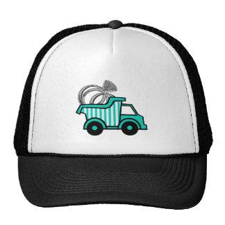 Ring Bearer Dump Truck Trucker Hats