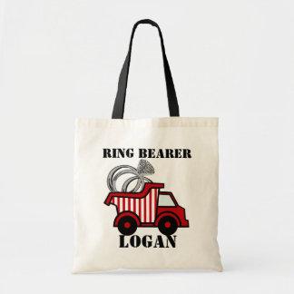 Ring Bearer Dump Truck Red Budget Tote Bag