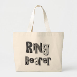 Ring Bearer Gray Canvas Bags