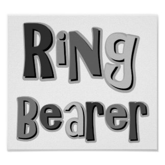 Ring Bearer Gray Posters
