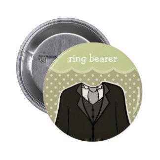 Ring bearer // GREEN 6 Cm Round Badge